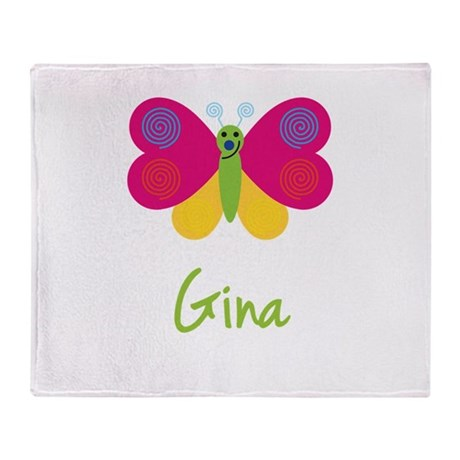 Gina The Butterfly Throw Blanket