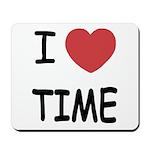 I heart time Mousepad