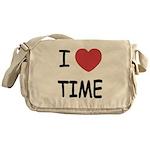 I heart time Messenger Bag