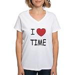 I heart time Women's V-Neck T-Shirt