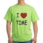 I heart time Green T-Shirt
