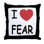 I heart fear Throw Pillow