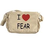I heart fear Messenger Bag