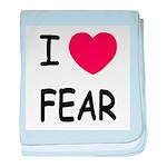 I heart fear baby blanket