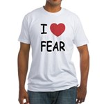 I heart fear Fitted T-Shirt