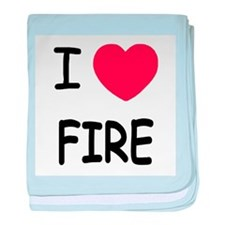 I heart fire baby blanket