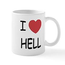 I heart hell Mug