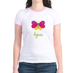 Agnes The Butterfly Jr. Ringer T-Shirt