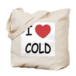 I heart cold Tote Bag