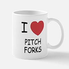 I heart pitchforks Mug