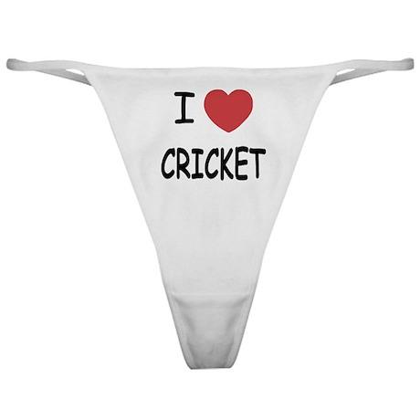 I heart cricket Classic Thong