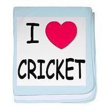 I heart cricket baby blanket