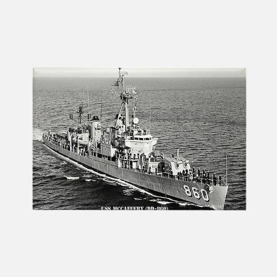 USS McCAFFERY Rectangle Magnet