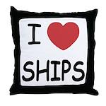 I heart ships Throw Pillow