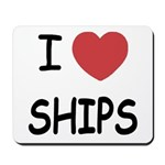 I heart ships Mousepad