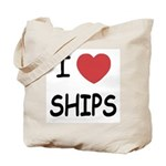 I heart ships Tote Bag