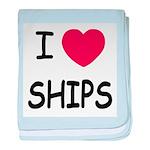 I heart ships baby blanket