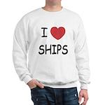 I heart ships Sweatshirt