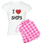 I heart ships Women's Light Pajamas