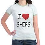 I heart ships Jr. Ringer T-Shirt