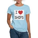 I heart ships Women's Light T-Shirt