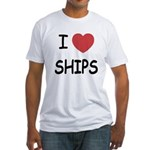 I heart ships Fitted T-Shirt