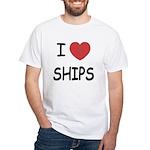 I heart ships White T-Shirt