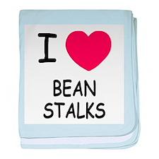 I heart beanstalks baby blanket