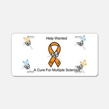 Ribbon and Butterflys Aluminum License Plate