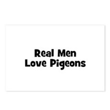 Real Men Love Pigeons Postcards (Package of 8)