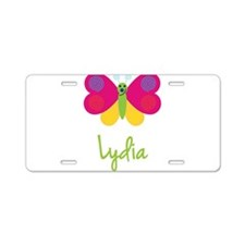 Lydia The Butterfly Aluminum License Plate