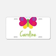 Caroline The Butterfly Aluminum License Plate