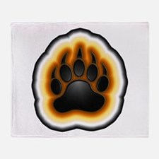 Bear Pride Glowing Paw Throw Blanket