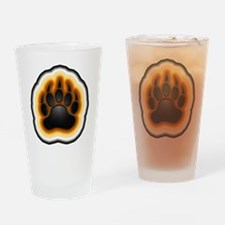 Bear Pride Glowing Paw Drinking Glass