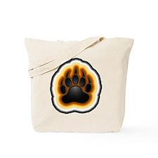 Bear Pride Glowing Paw Tote Bag