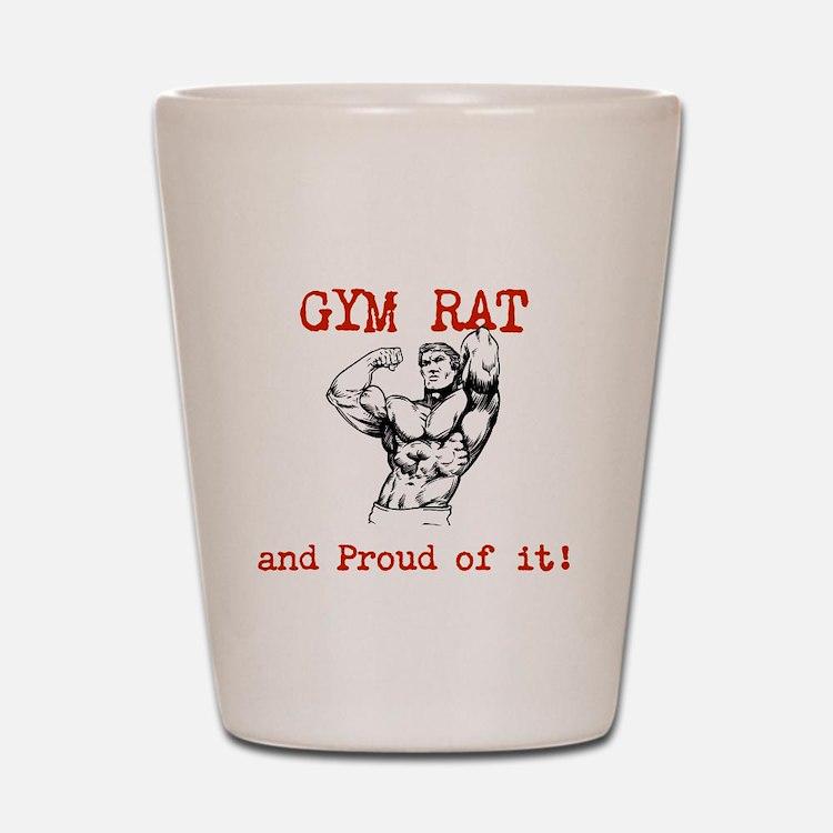 Cute Gym rat Shot Glass