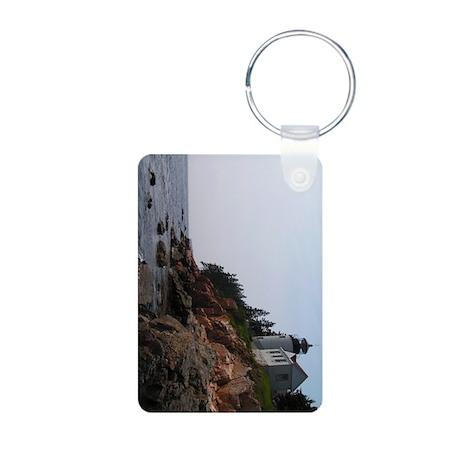 Bass Harbor Light Aluminum Photo Keychain