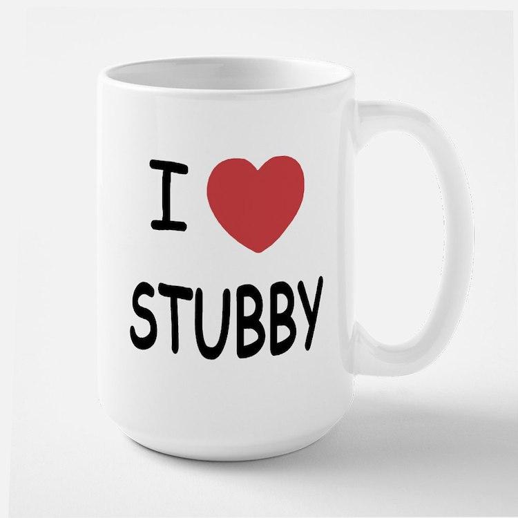 I heart stubby Large Mug