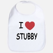 I heart stubby Bib