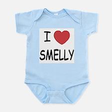 I heart smelly Infant Bodysuit