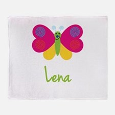 Lena The Butterfly Throw Blanket
