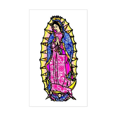 Virgin of Guadalupe Rectangle Sticker