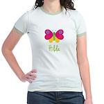Hilda The Butterfly Jr. Ringer T-Shirt