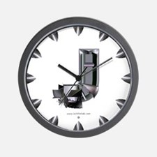 Heavy Metal J Wall Clock