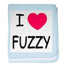 I heart fuzzy baby blanket
