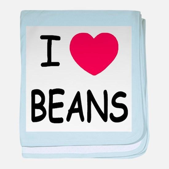 I heart beans baby blanket