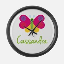 Cassandra The Butterfly Large Wall Clock