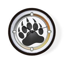 Bear Paw In Pride Circle Wall Clock