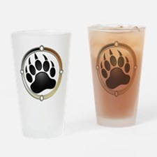 Bear Paw In Pride Circle Drinking Glass
