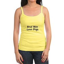 Real Men Love Pigs Ladies Top